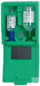 Настенная аптечка с комплектом растворов для экстренного промывания глаз