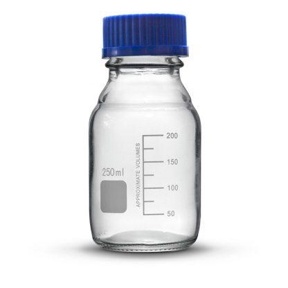 Бутыль 1- 100 мл  (с винт. крышкой и град.; светлое стекло)