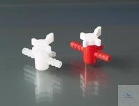 Кран двуходовой PE/PP для трубок 5-7 мм
