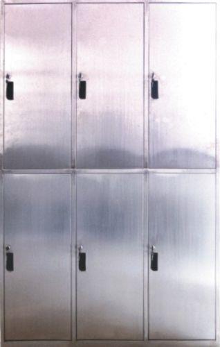 Шкаф шестидверный для одежды из нержавеющей стали GY–6