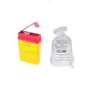 Контейнеры, пакеты для утилизации медицинских отходов