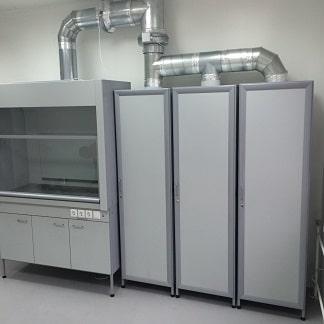 Лабораторные шкафы и стеллажи